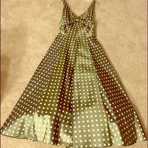 Green Polka Dot Party Dress